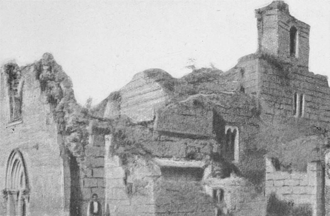 Gradac Monastery in ruins, Pokrychkin.jpg