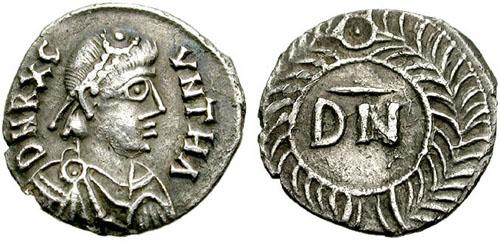 Moneta di Gutemondo, re dei Vandali e degli Alani