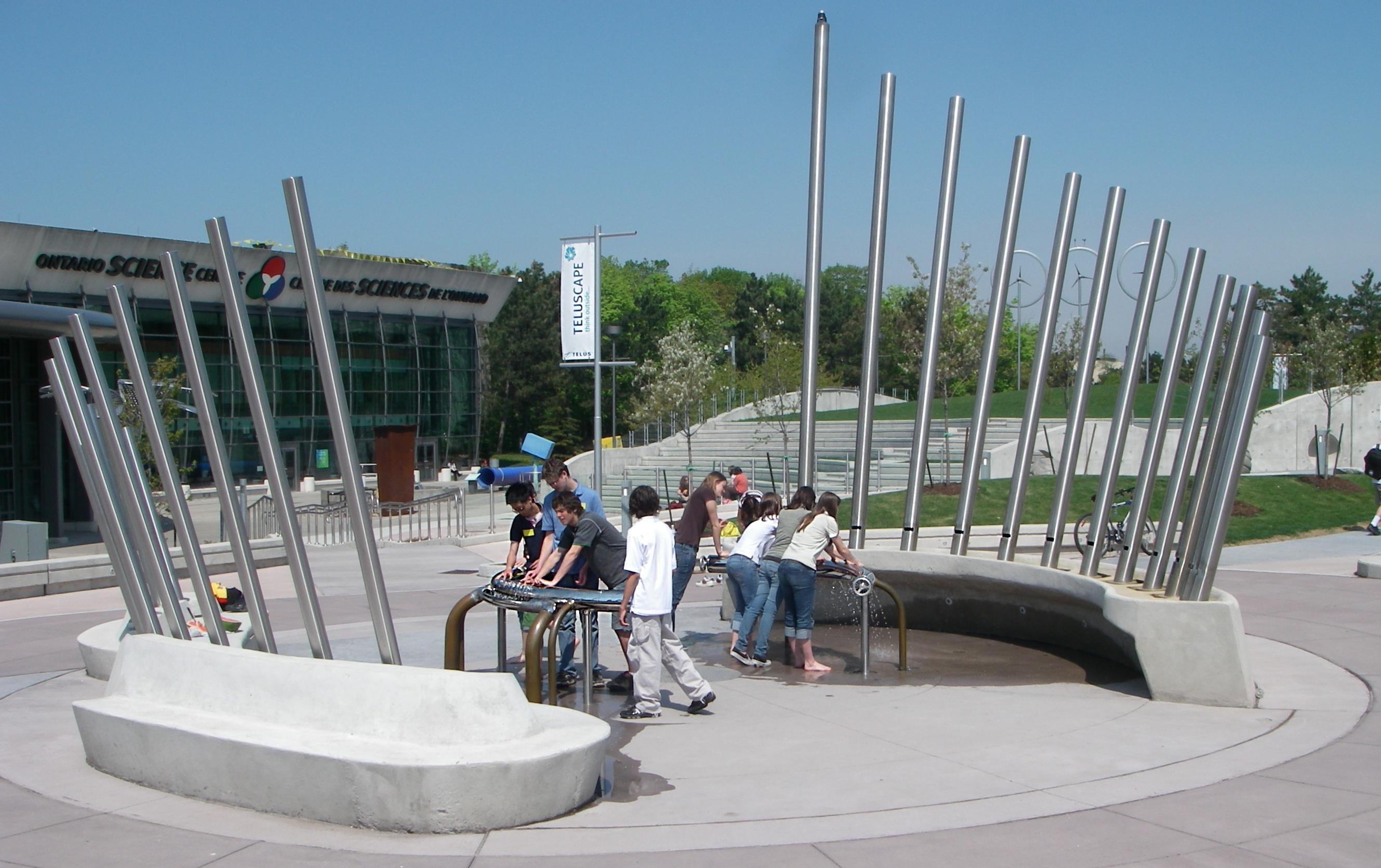 File hydraulophone water pipe organ flute as public for Interactive landscape design