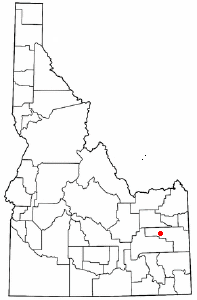Idaho map with dot on Idaho Falls.png