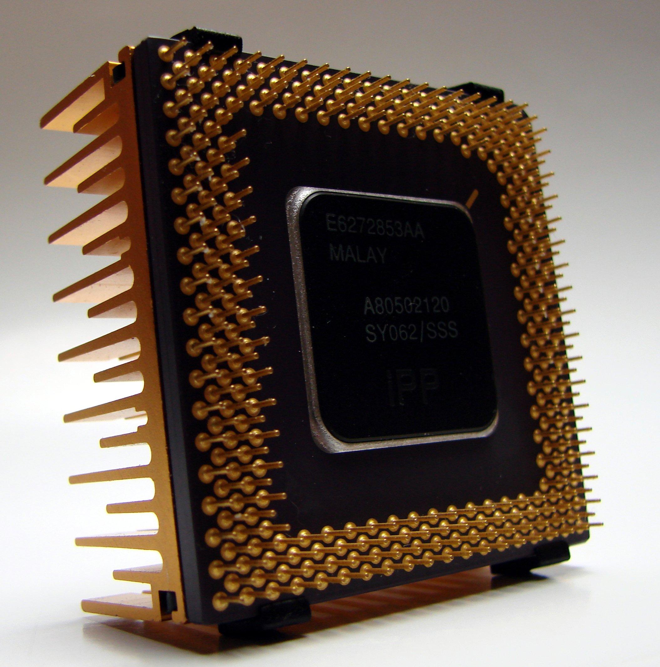 File:Intel Pentium Processor (backside) with heat sink.jpg