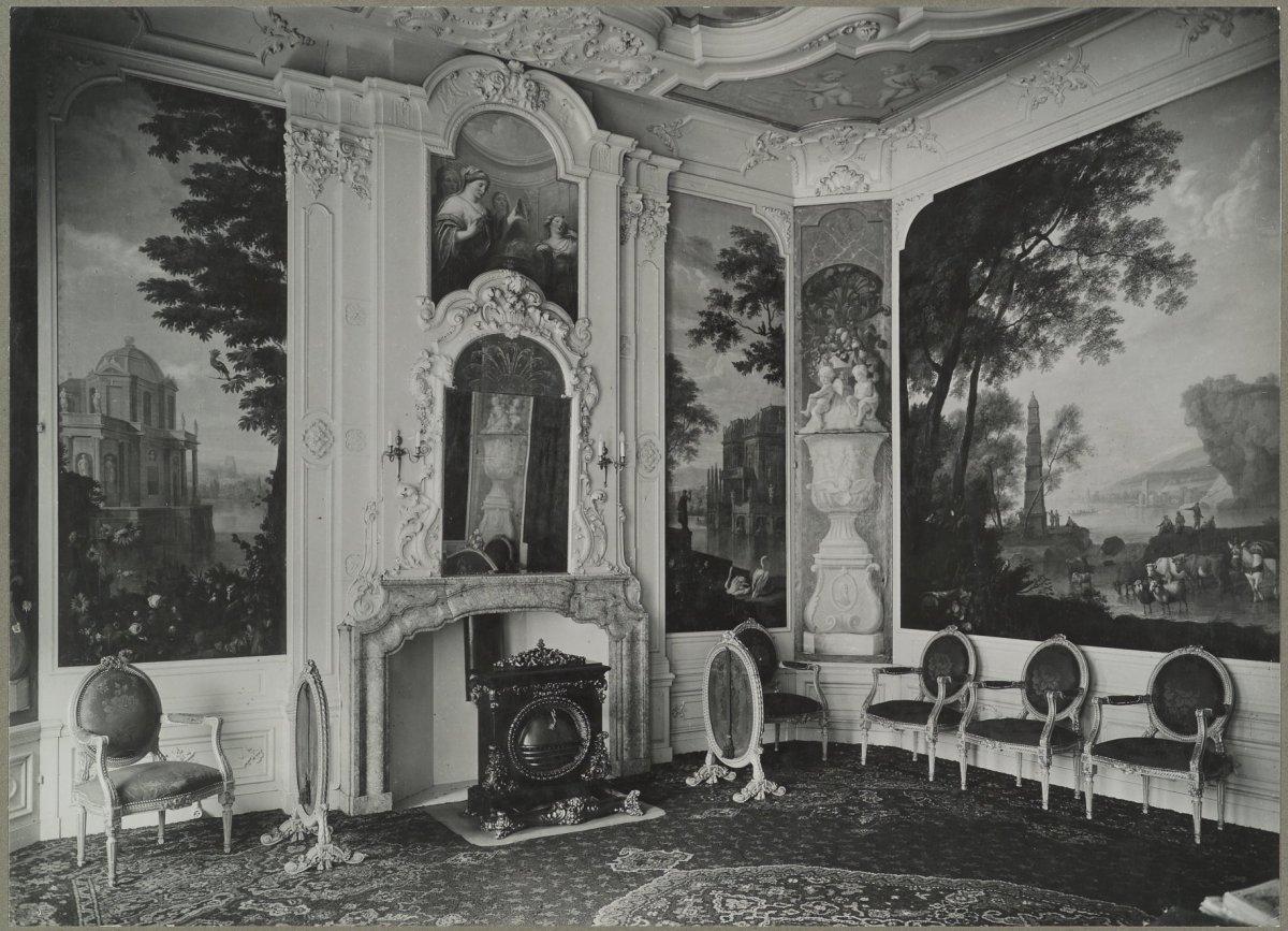 File interieur grachtenhuis met beschilderd behang for Interieur stage amsterdam