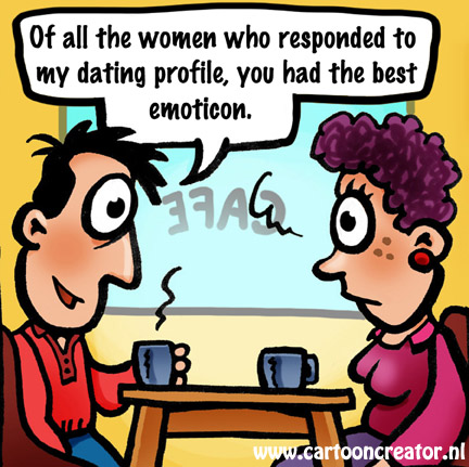 Internet dating cartoon