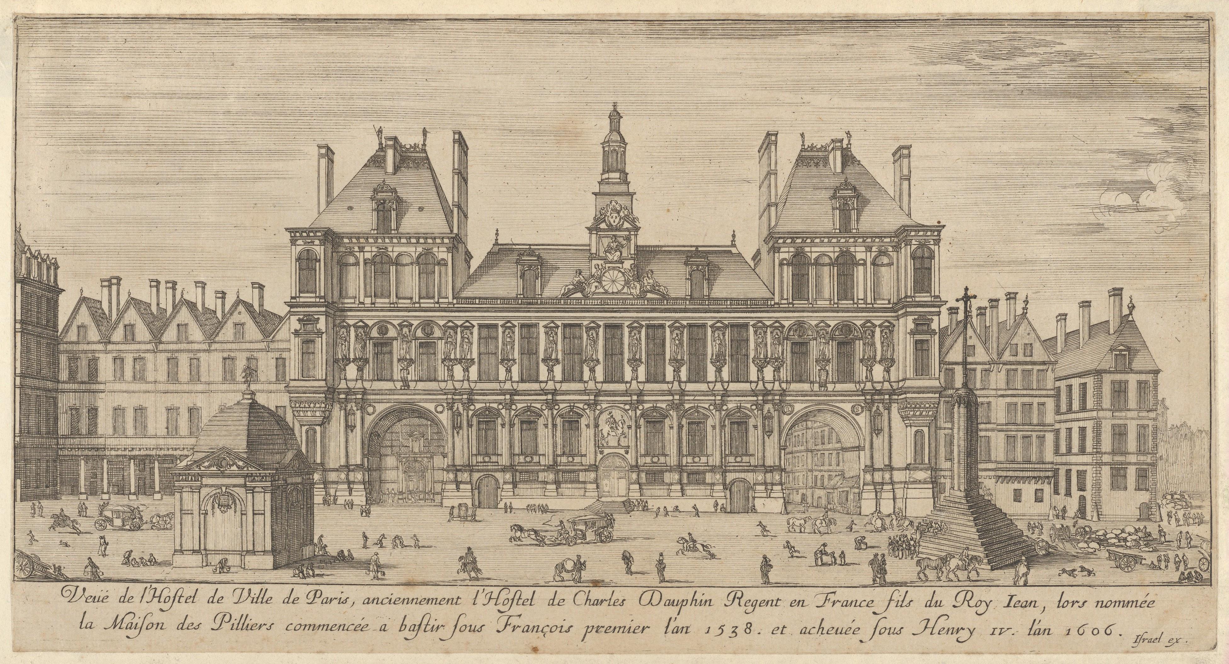 French Chateau House Plans File Israel Silvestre Veue De L Hotel De Ville De Paris
