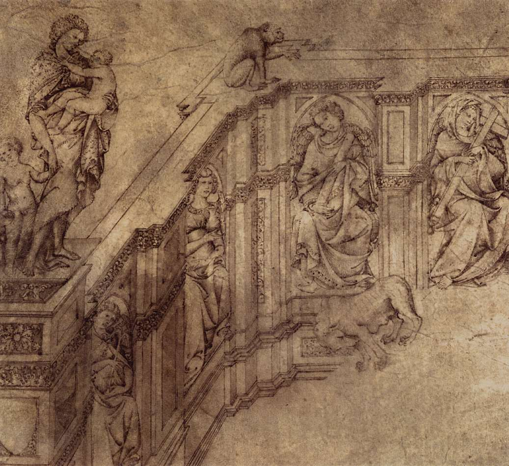 Jacopo della Quercia, tekening voor Fonte Gaia (detail), Metropolitan Museum