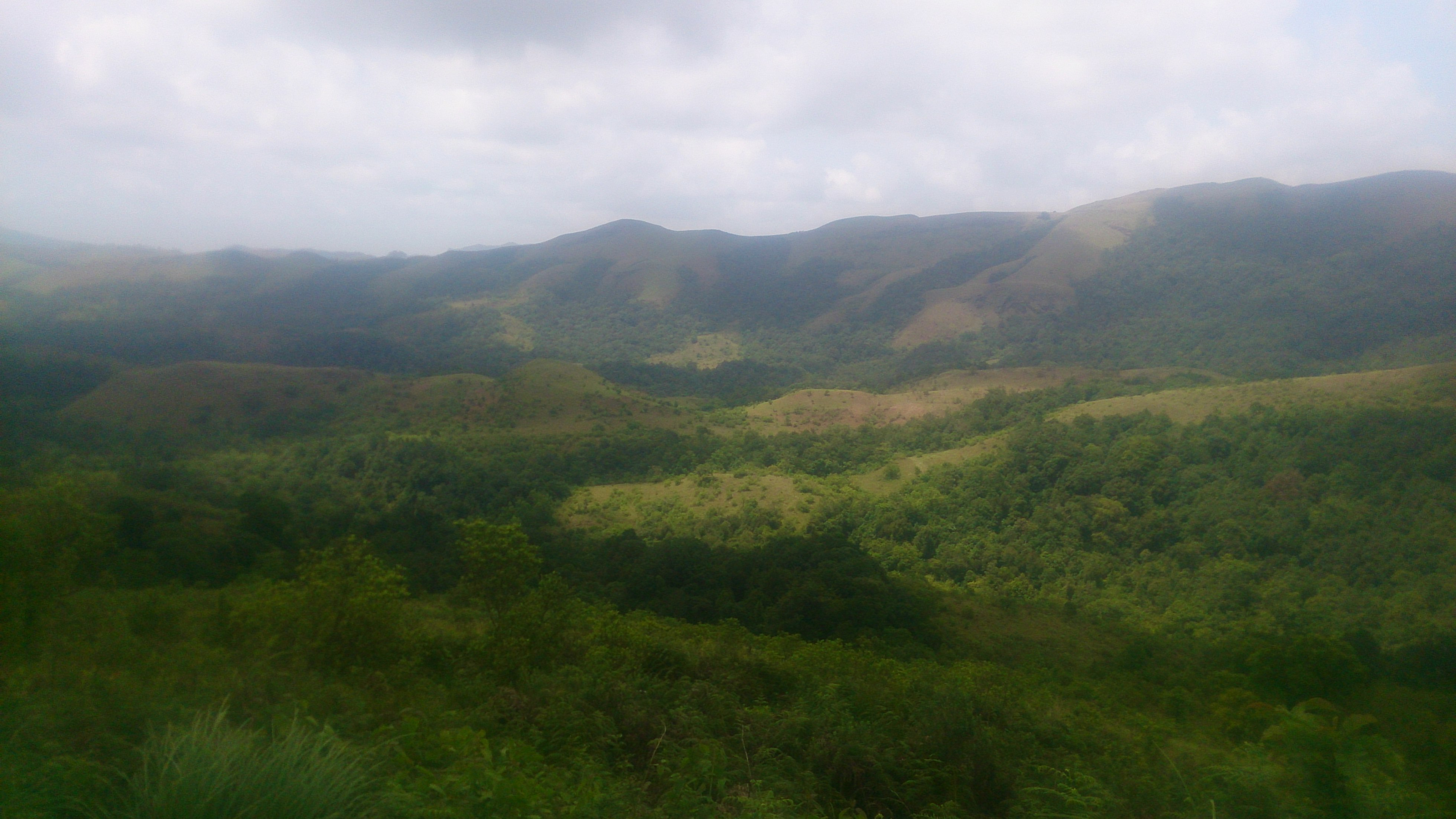 Kudremukh view from peak of trekking trail