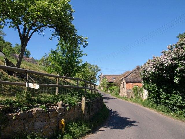 Lane in Loxton - geograph.org.uk - 1887612