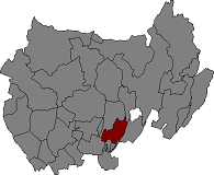 Location of Montgai in Noguera