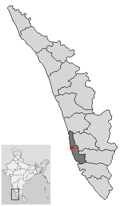 Location of Alappuzha Kerala.png