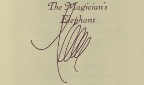 Kate DiCamillo signature