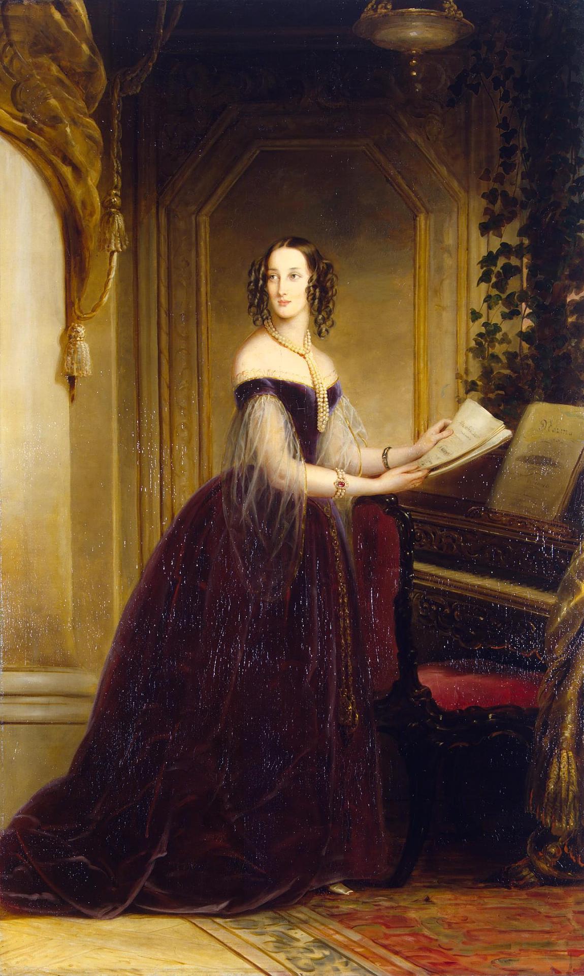 Maria Nikolaievna of Leuchtenberg by C.Robertson (1841, Hermitage).jpg
