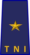 An Indonesian (IAF) air commodore's rank insignia.