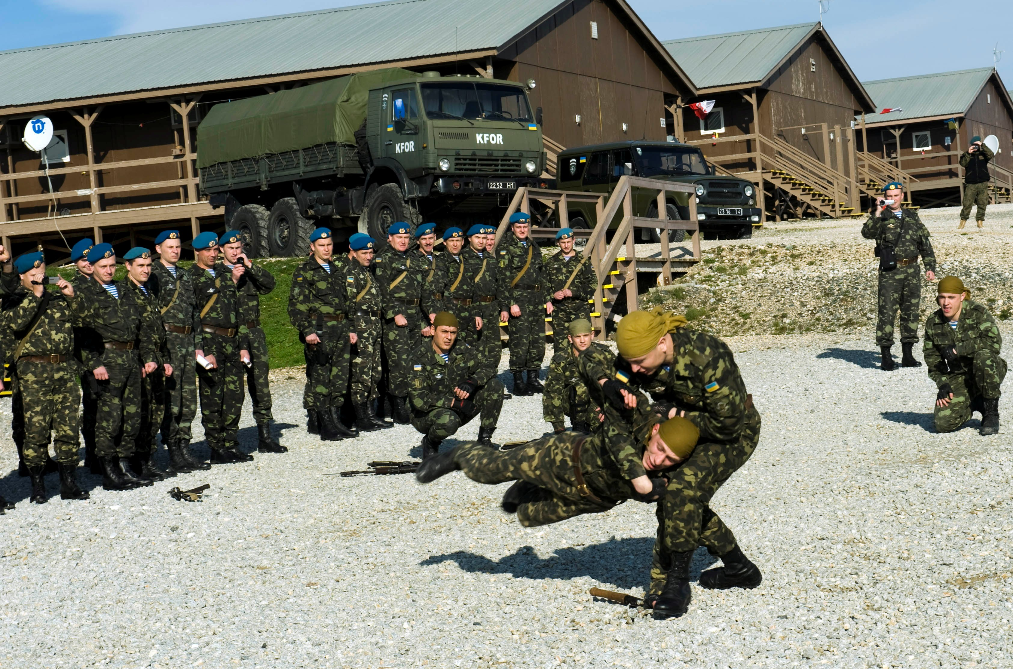 File:Martial arts demonstration, Ukrainian military jpg