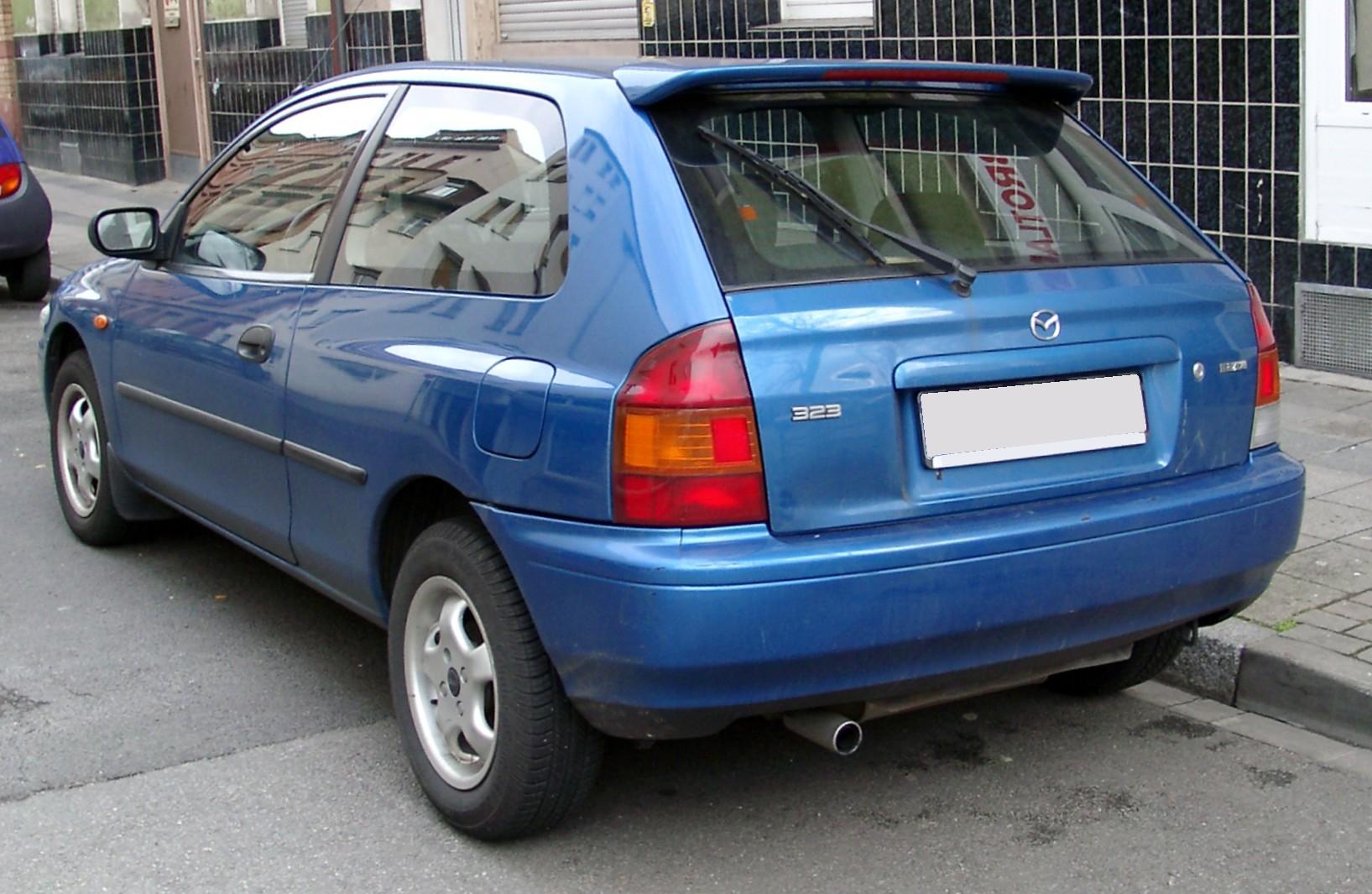 File Mazda 323 Rear 20080222 Jpg Wikimedia Commons