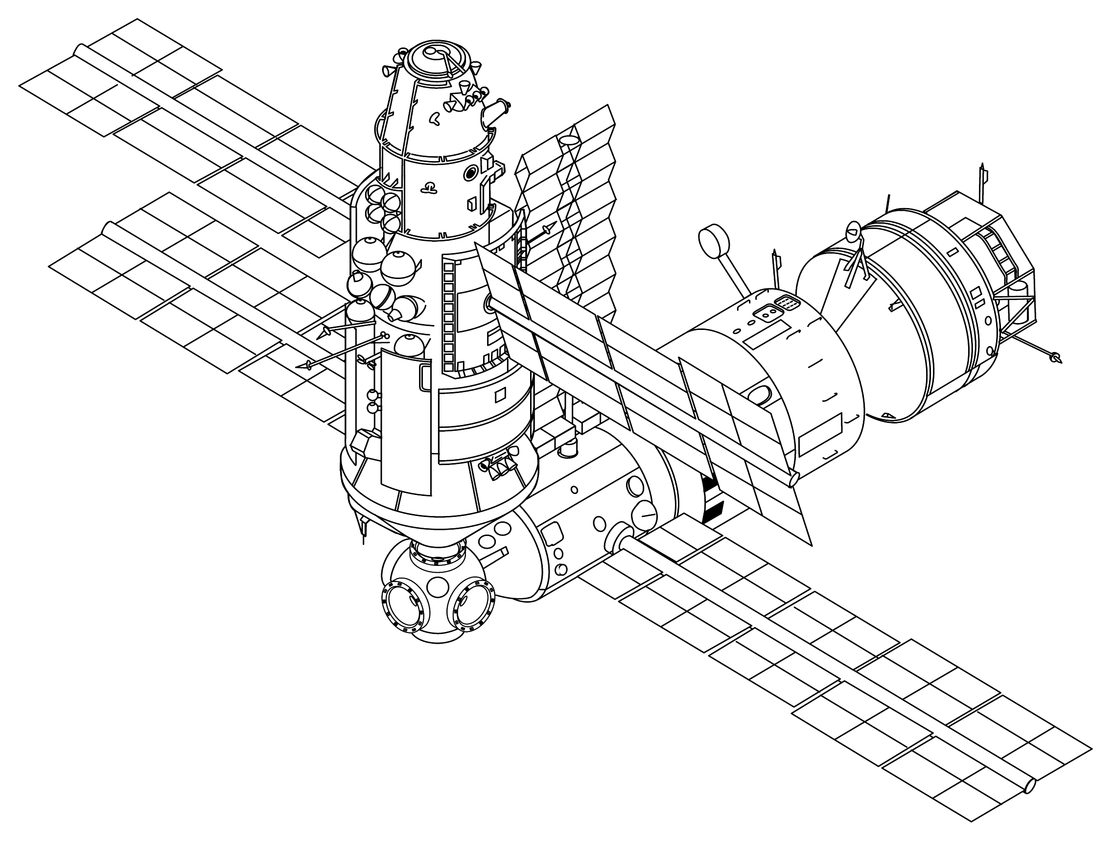 Space Station Dimension Drawing - Pics about space
