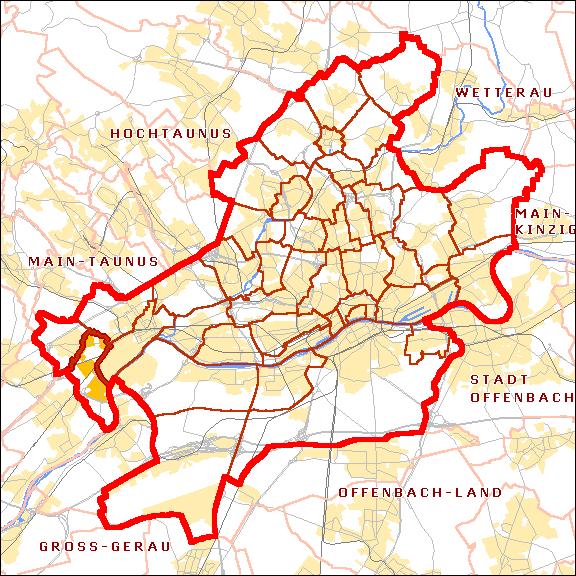 Karte von Sindlingen mit Umgebung (von Michael König)