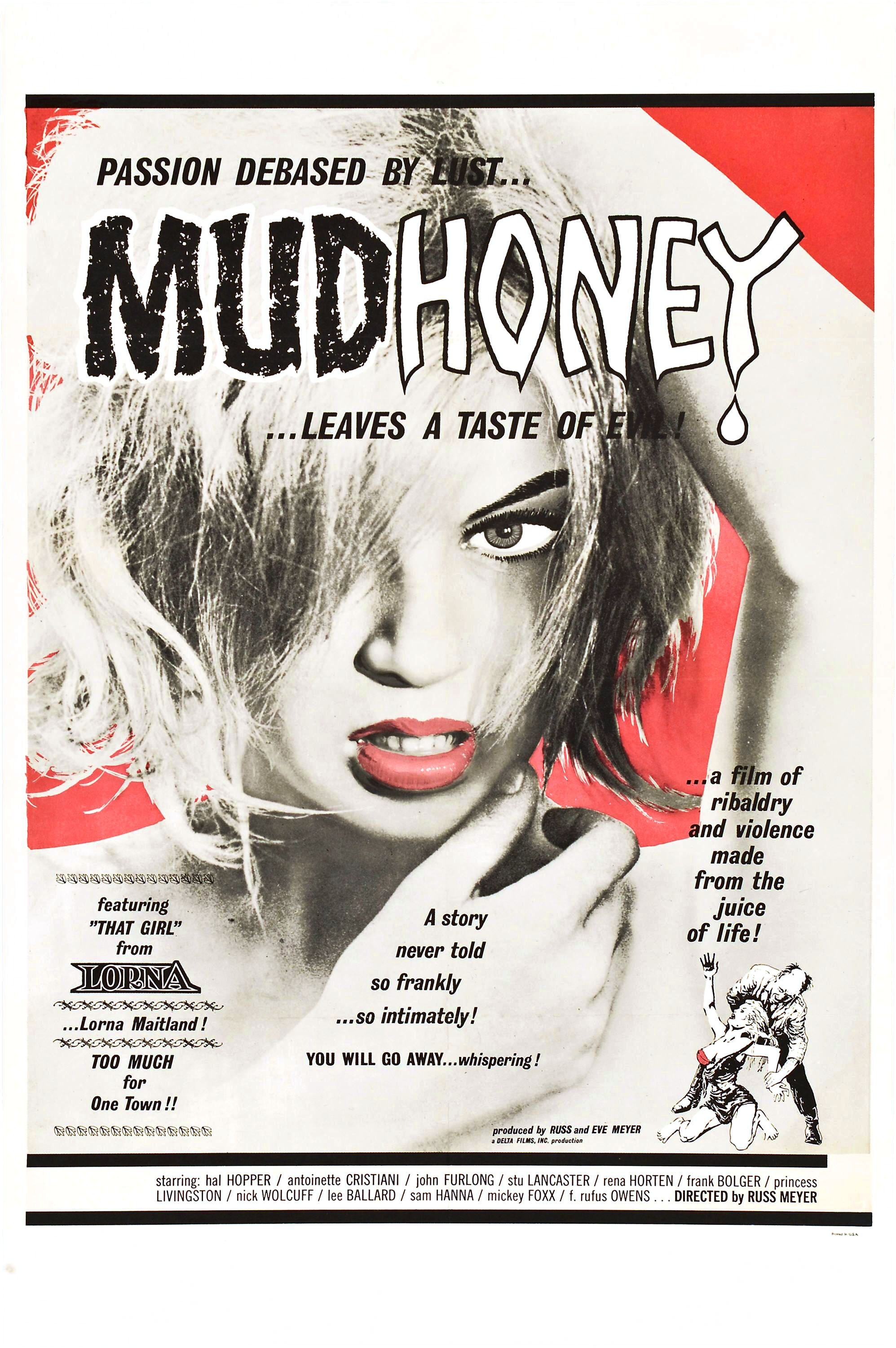 Film poster for the 1965 exploitation movie Mudhoney