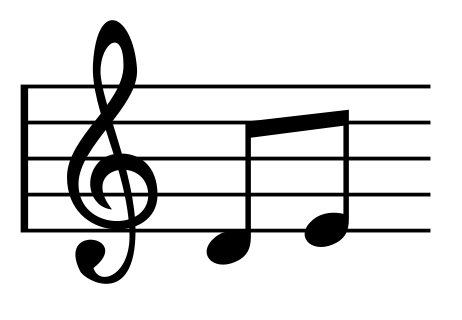 Common musical notes