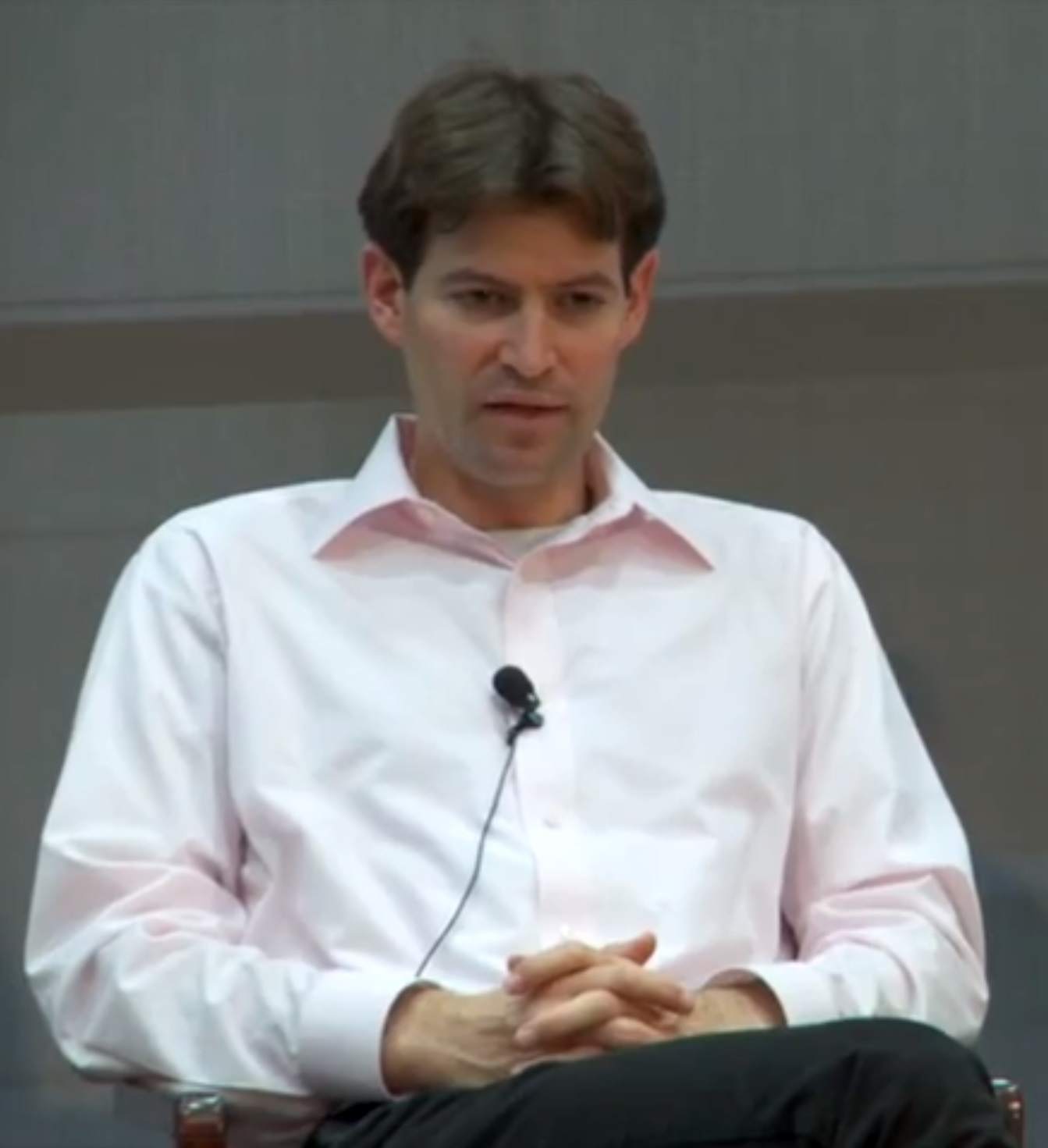 Diffenbaugh speaks at an environment and climate change panel discussion at Stanford University in 2014