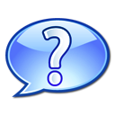 Image of a question mark in a speech bubble.