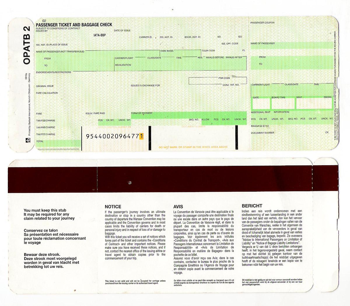 Ticket (Luftfahrt) – Wikipedia