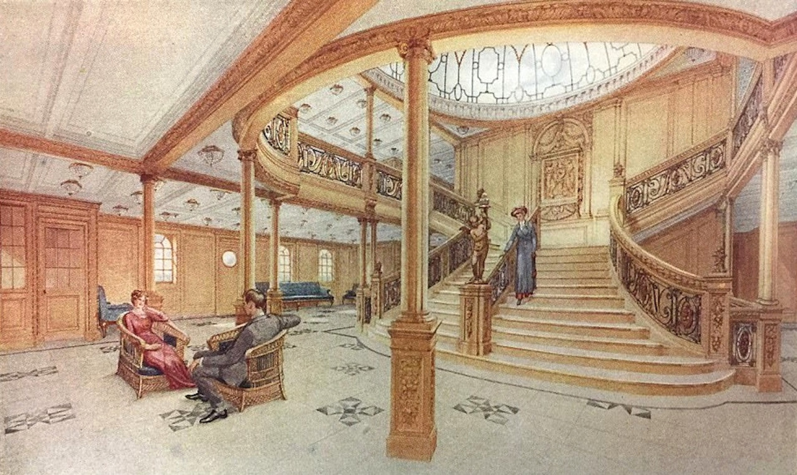 Gran Escalera Del Rms Titanic Wikipedia La Enciclopedia Libre