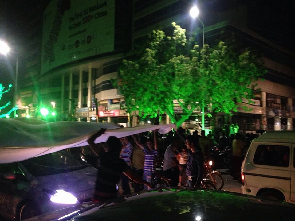 File:Pakistan's Independence Day Celebrations At liberty roundabout