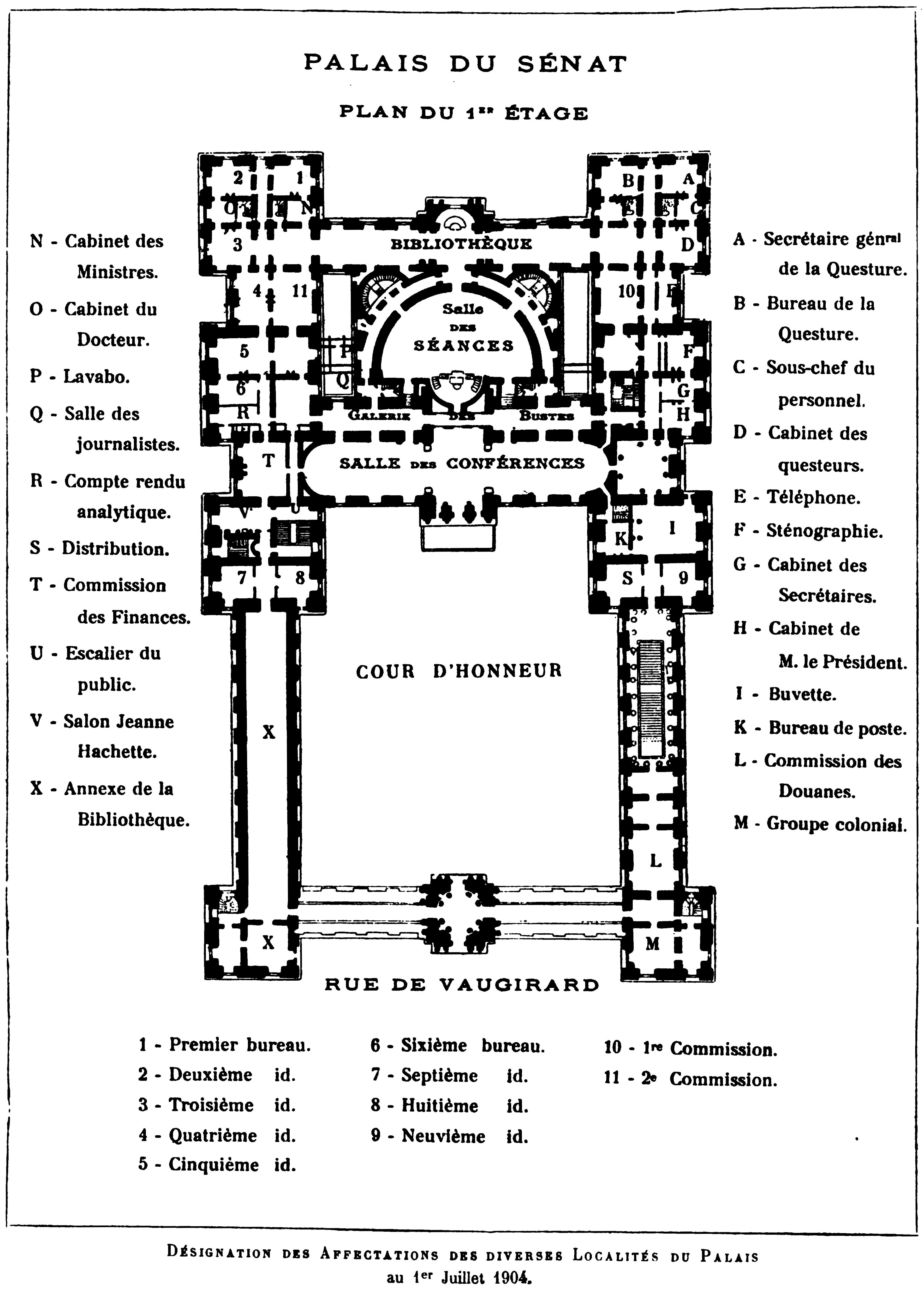 File Palais Du Luxembourg Plan 1904 Hustin 1904 P86