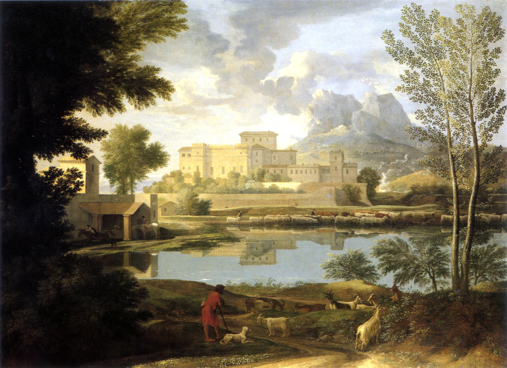 File paysage par temps calme poussin for Paysage