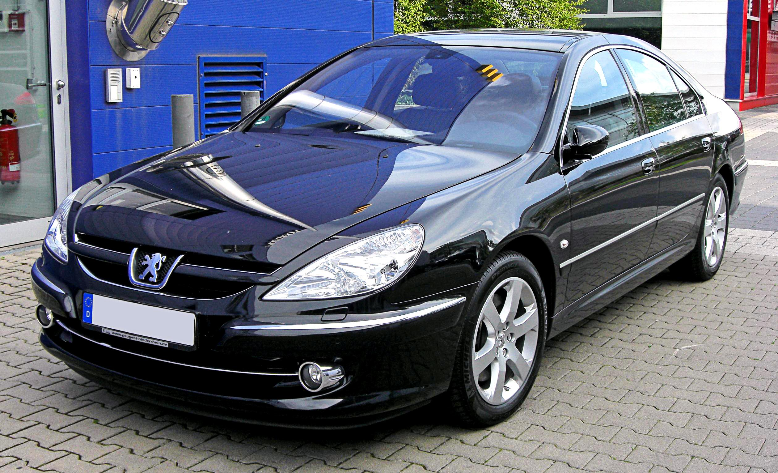 file peugeot 607 facelift 20090720 front jpg wikimedia. Black Bedroom Furniture Sets. Home Design Ideas