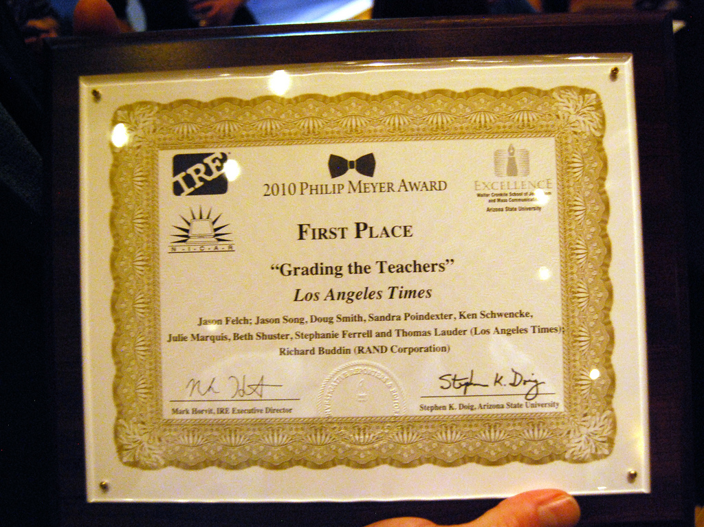 correctness in journalistic writing awards