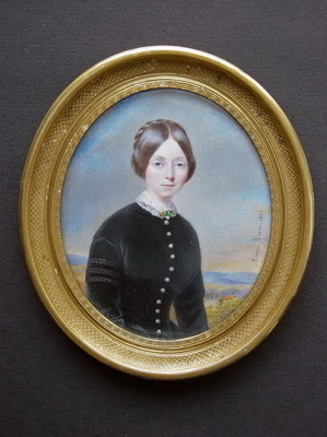 Portrait Miniature On Ivory Of A Young Lady Painted In By Aim C A E Jovin Cheron
