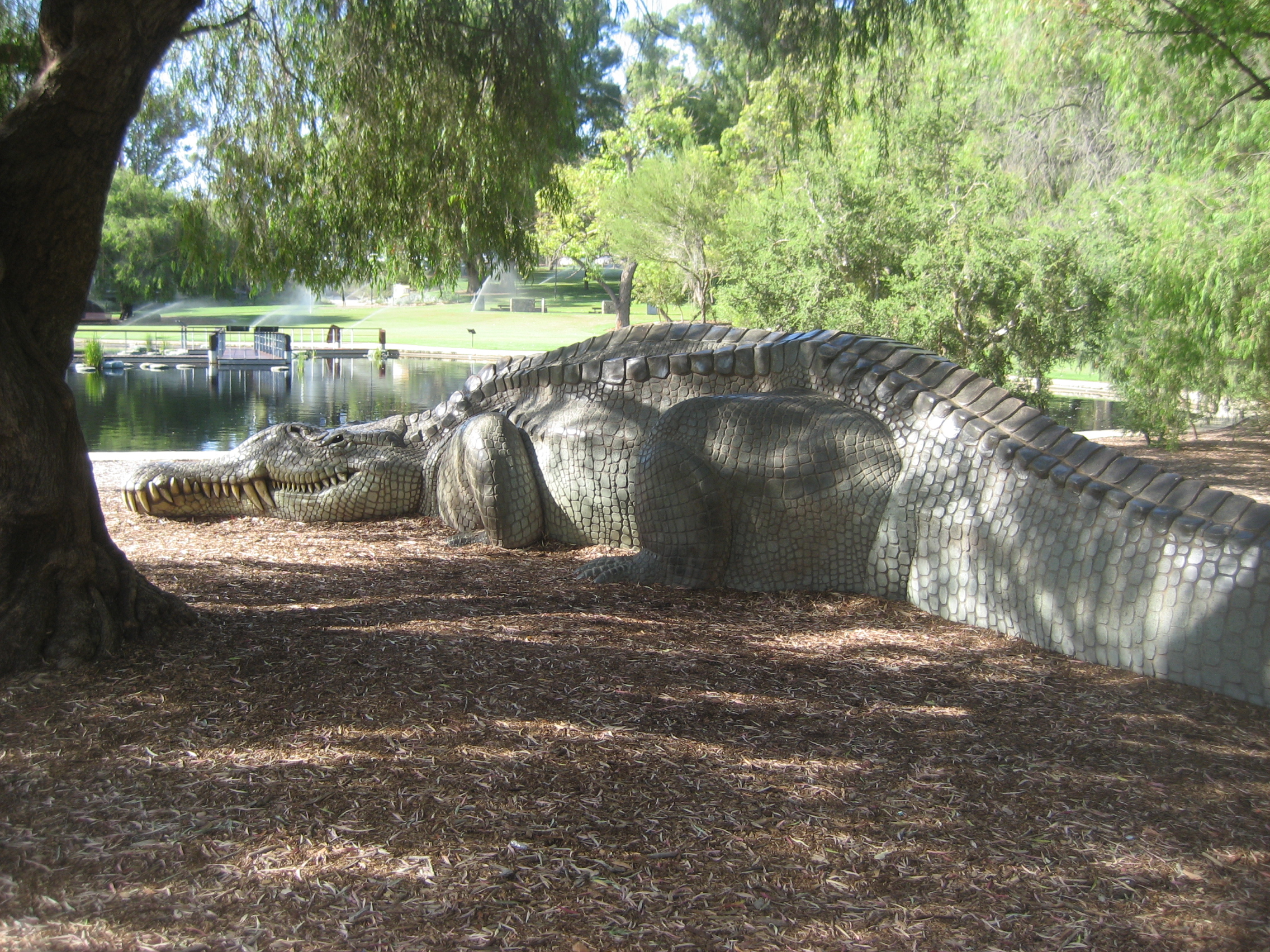 File:Public art - Phytosaur, Kings Park Perth jpg - Wikimedia Commons