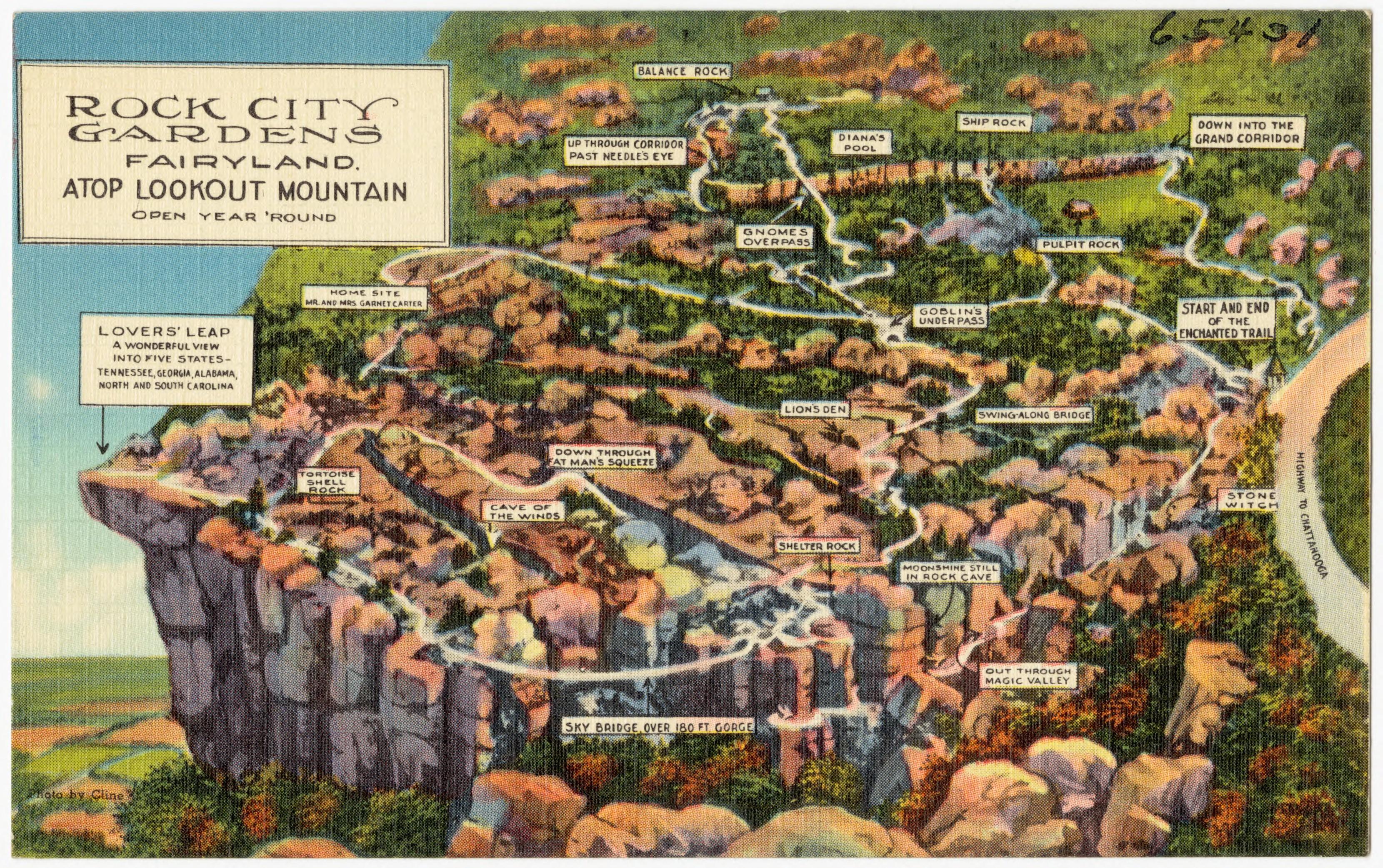 File:Rock City Gardens, Fairyland, Atop Lookout Mountain, Open Year U0027round
