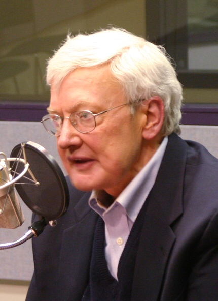 Ebert giving an interview for<br>''[[Sound Opinions]]'' in 2006