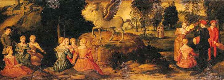 Pégase et les Muses