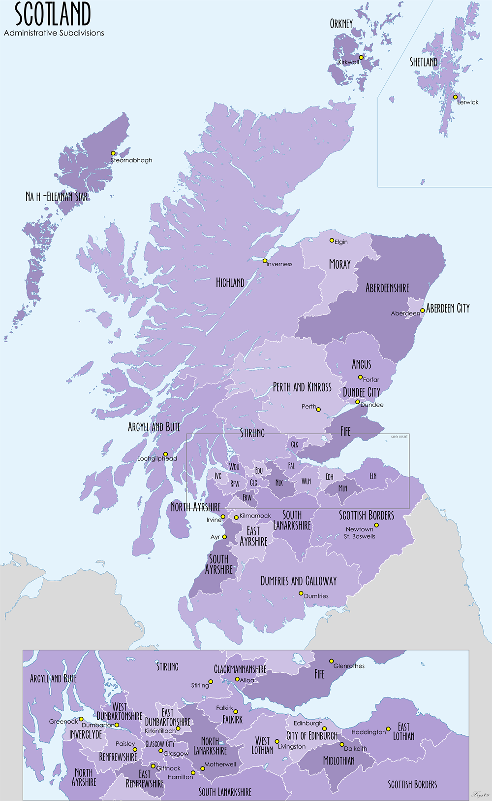 Scottish Administrative Subdivisions