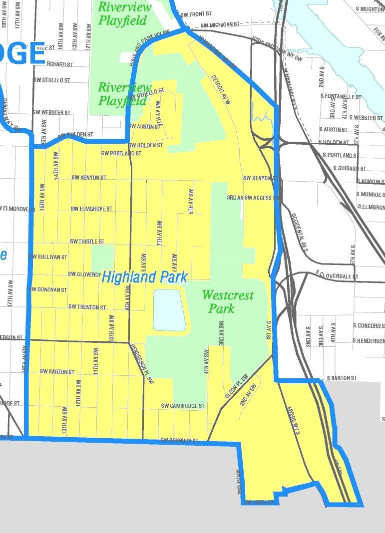 Highland Park Map File:Seattle   Highland Park map.   Wikimedia Commons Highland Park Map