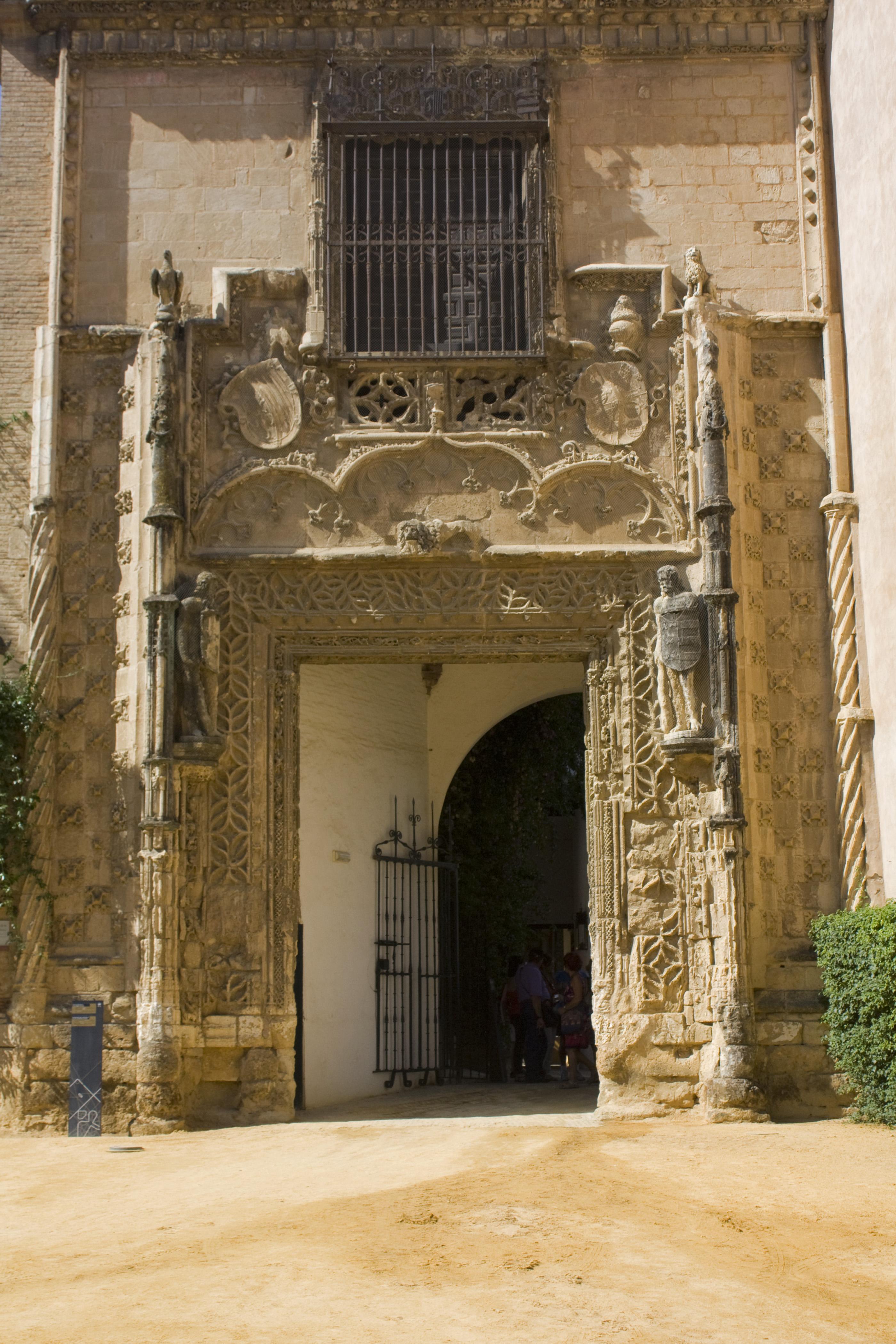 File sevilla reales alcazares puerta del palacio de los - Puertas uniarte sevilla ...