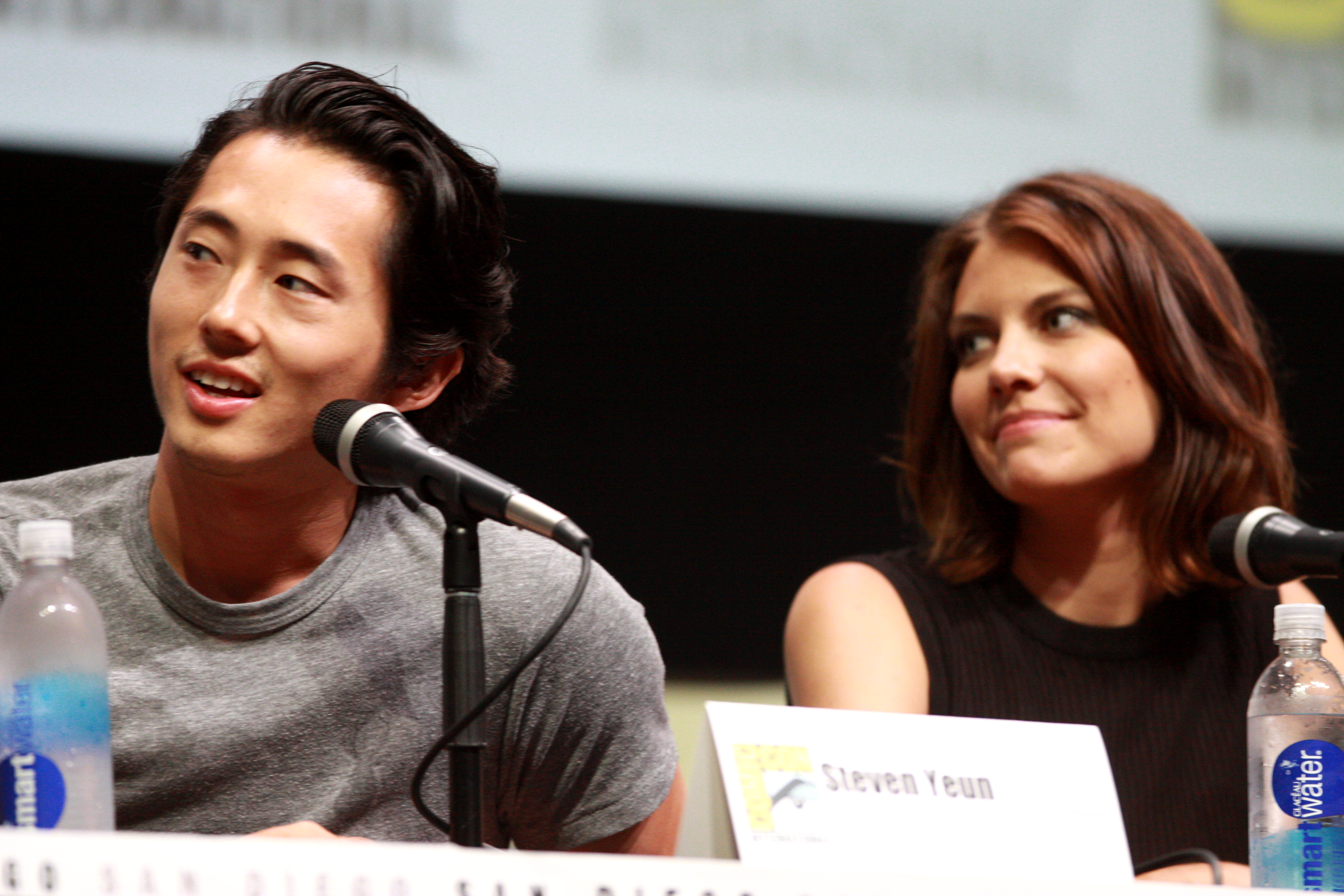 The Walking Dead's Maggie and Glenn Only Got One Moment of ... |Lauren Cohan And Steven Yeun 2014