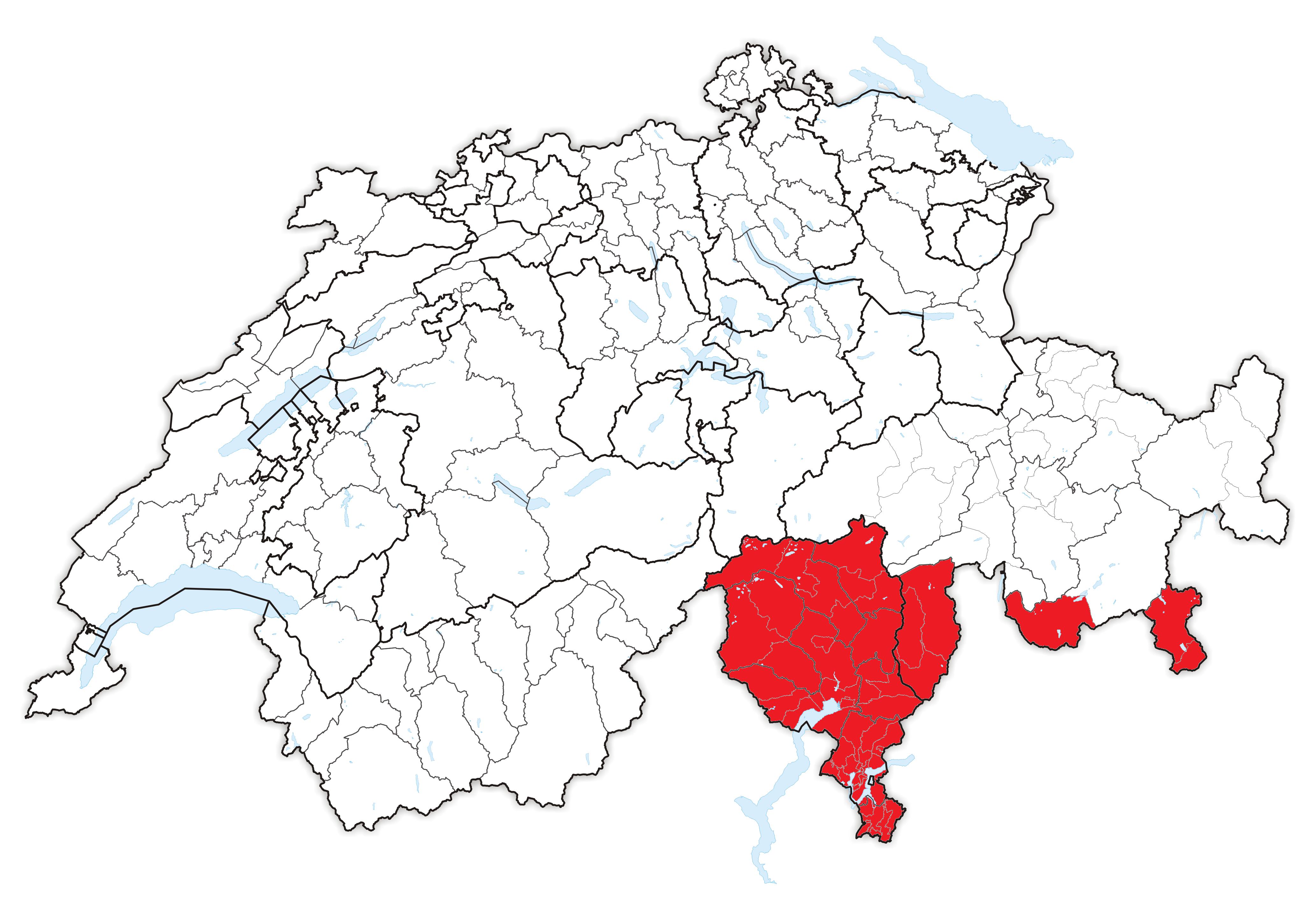 Confine Svizzera Italia Cartina.Svizzera Italiana Wikipedia