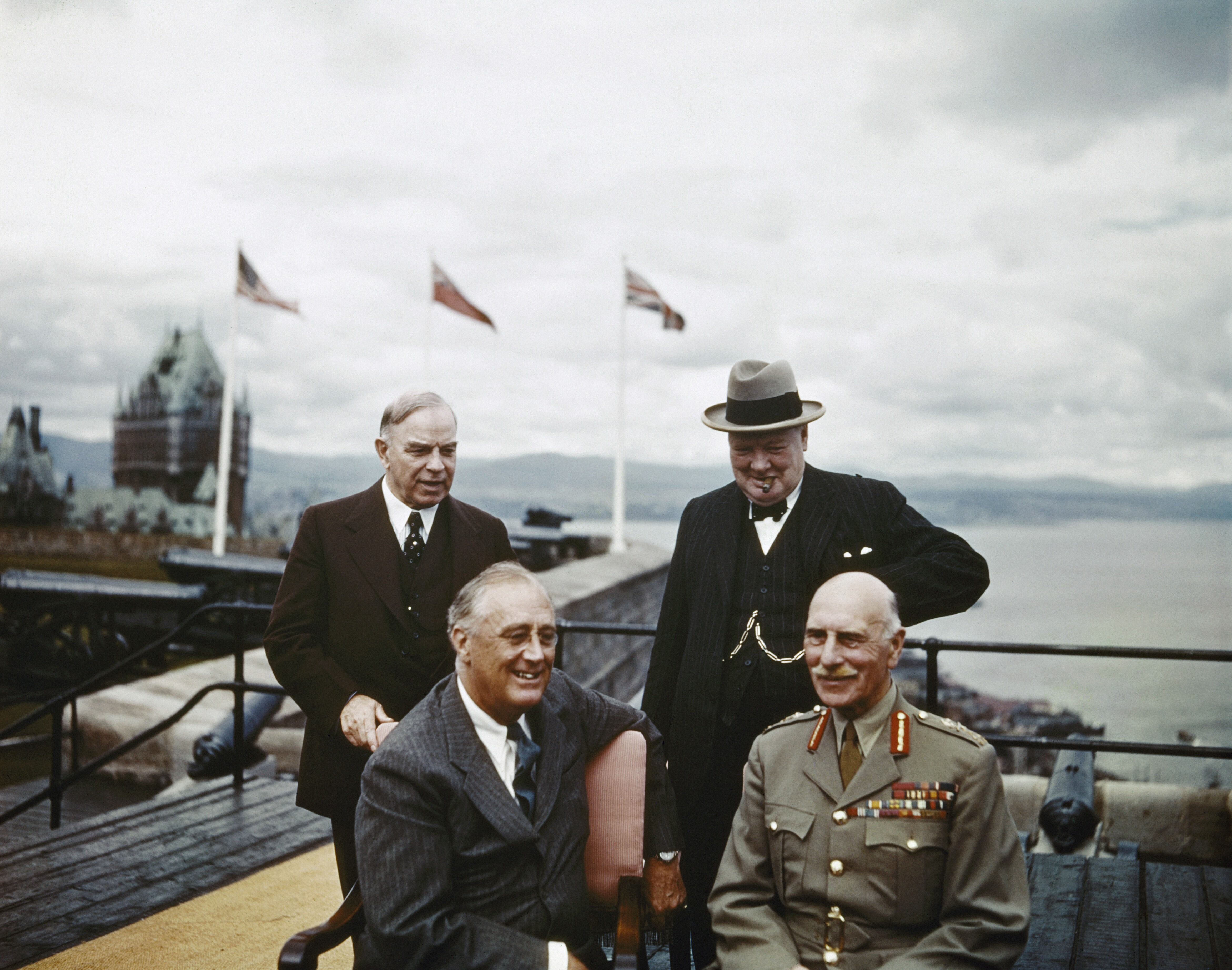 ... Franklin Roosevelt, and the Earl of Athlone (left-to-right) at the  First Quebec Conference, a secret military conference held in World War II.