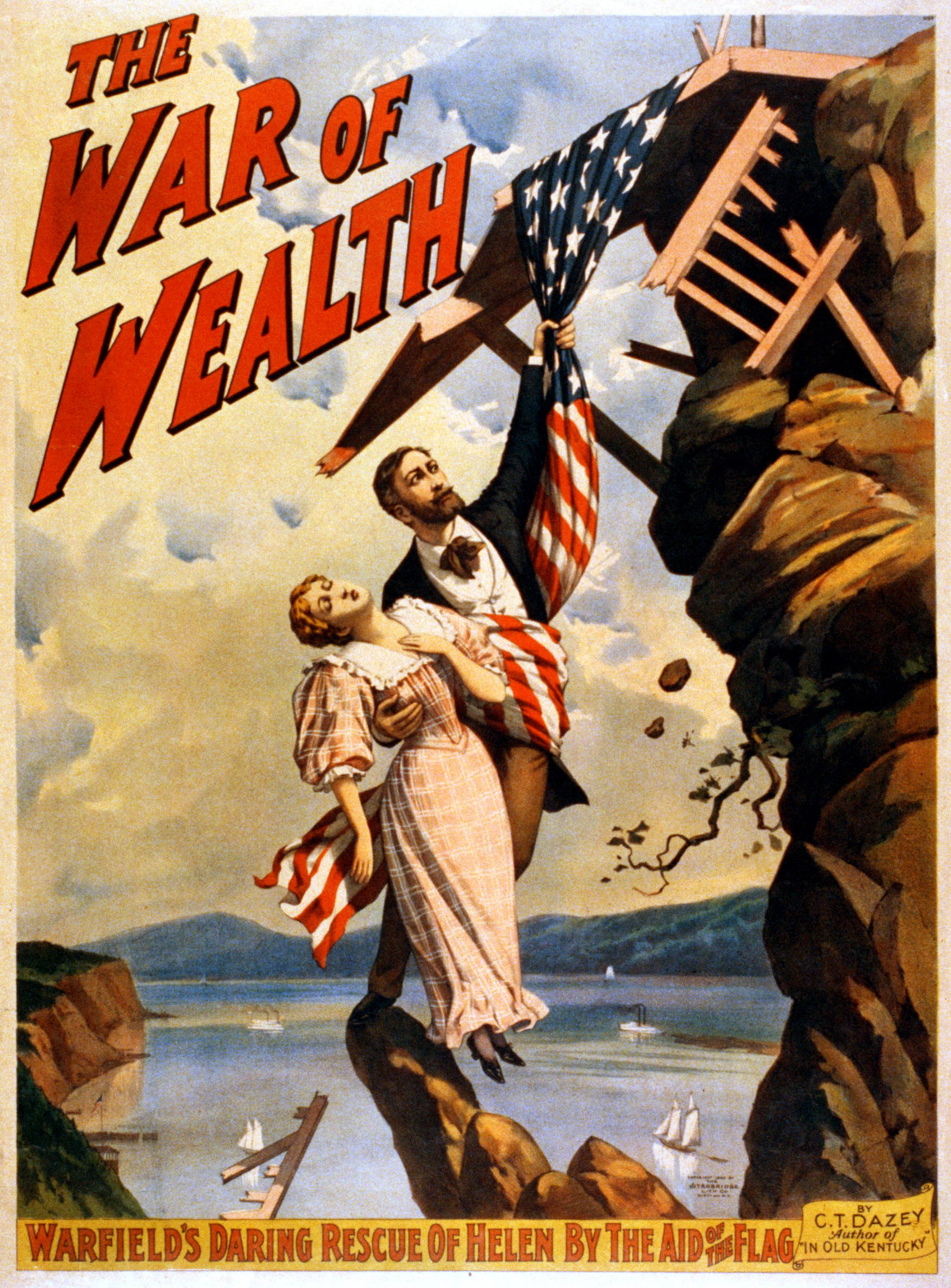 File:The War of Wealth by C.T. Dazey, Broadway poster, 1895.jpg ...