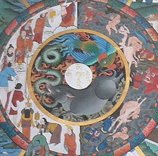 The wheel of life, Trongsa dzong より「三毒」