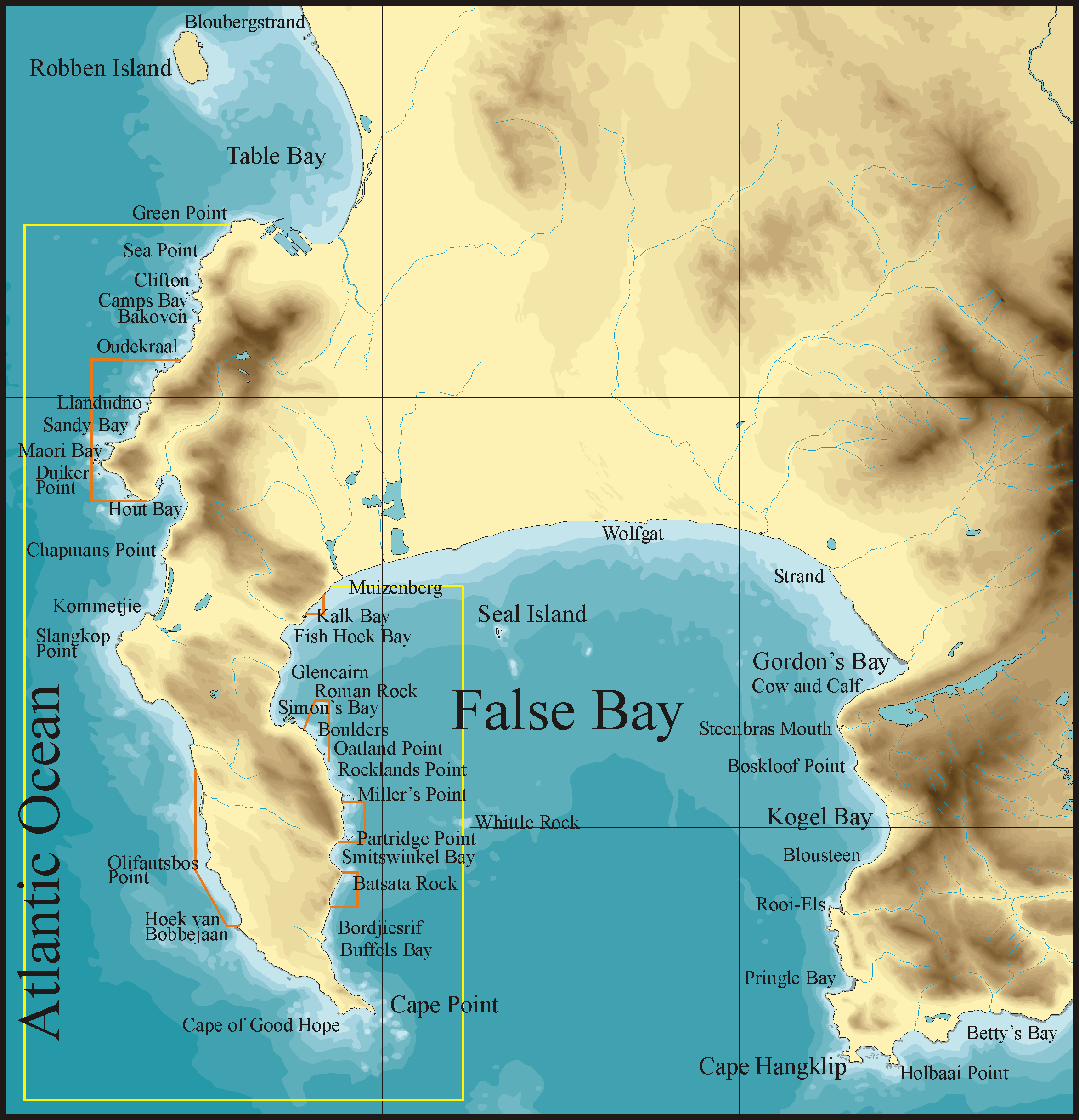 FileTopographical map Cape Peninsula and False Bay2png Wikimedia