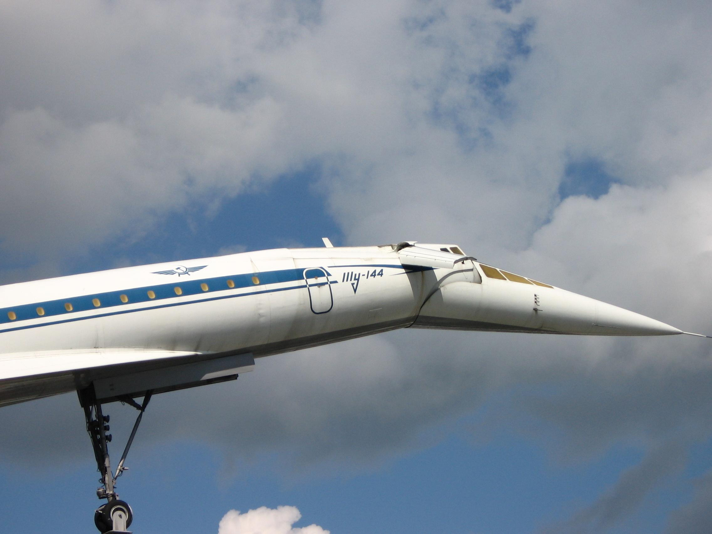 Tu-144 twirling its moustache