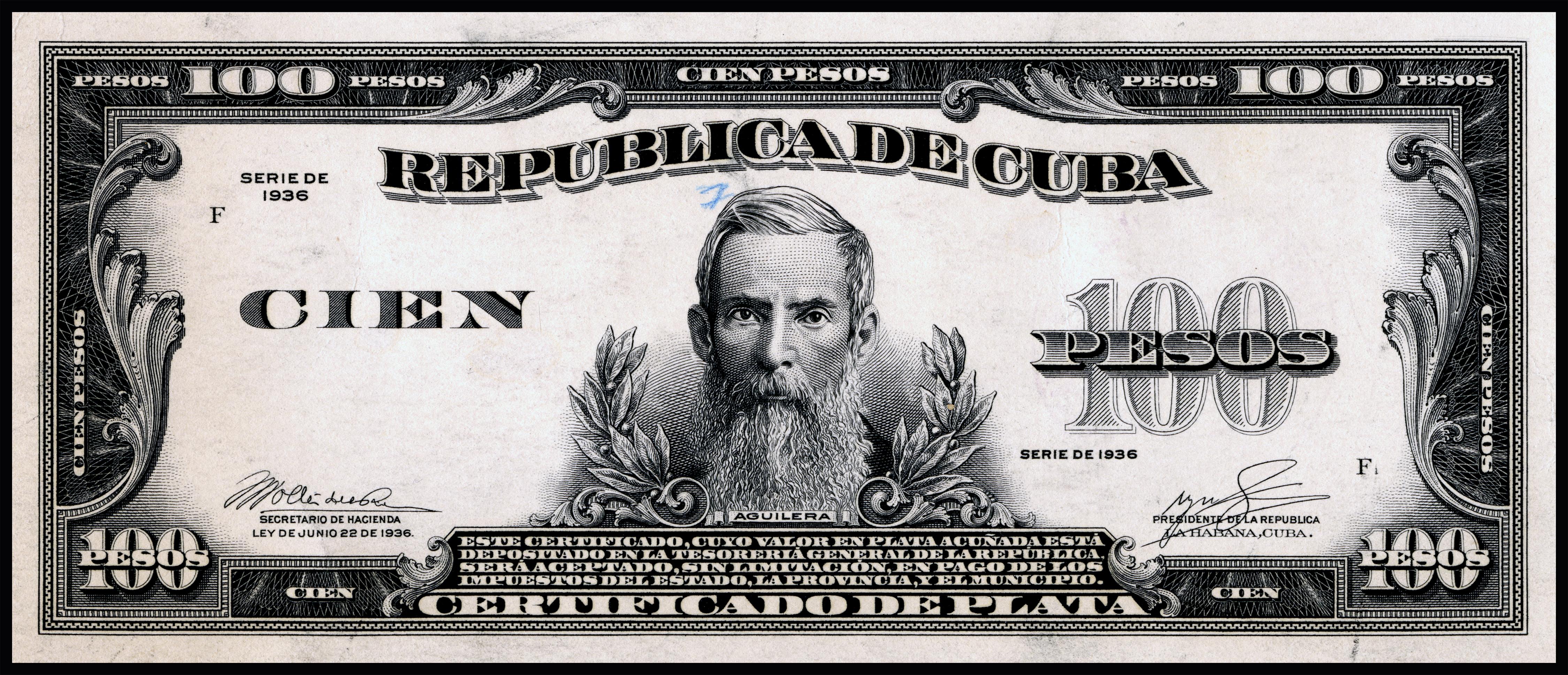 File Us Bep República De Cuba Certified Proof 100 Silver Pesos 1936 Cub 74b Jpg