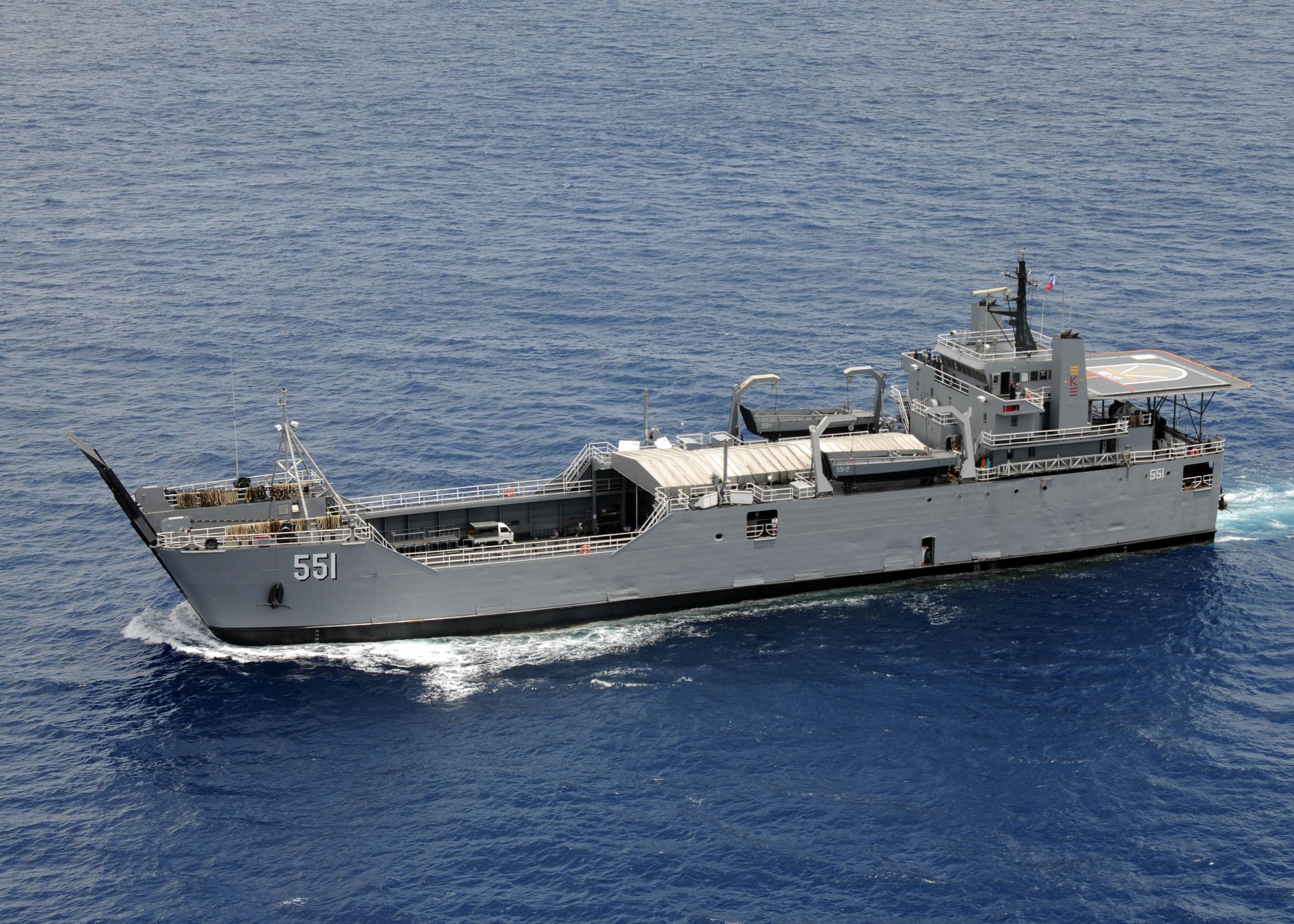 Dagupan Philippines  City pictures : Forces of the Philippines Navy logistics support vessel BRP Dagupan ...