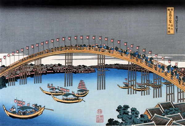 Unusual Views of Celebrated Bridges in the Provinces-Sesshuu Tenmabashi.jpg