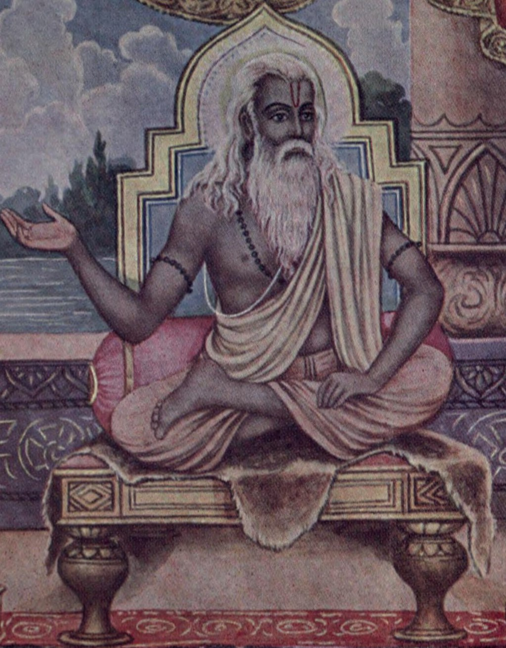 A portrayal of Vyasa, who is revered by Hindus...